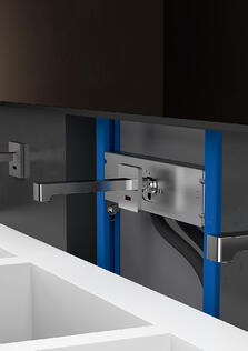 wall-mount faucet installation