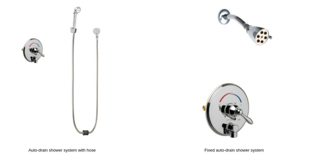 Auto-drain shower system (1)